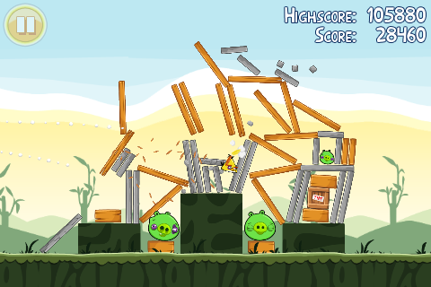 Don't expect something like Angry Birds, but I bet we could make a side-scrolling platformer.