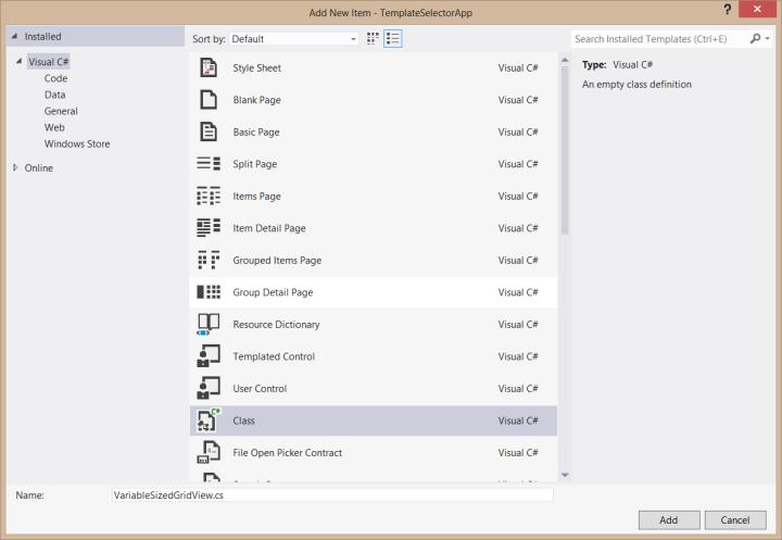 Using Multiple Item Templates Together: DataTemplateSelector