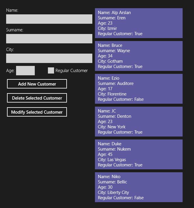 The initial customer list.